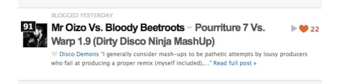 First DDN entry ever in Hype Machine! Thanks to you, boys & girls!